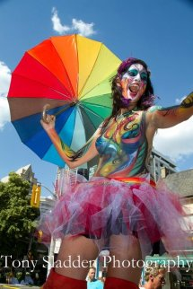 Stilt-walker Toronto Pride 2012 Hala on Stilts