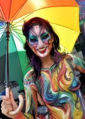 Hala on Stilts Toronto Pride 2012 - Natasha Kudaskina Human Painting