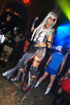 Hala on stilts - cyborg