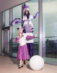 Hala on stilts Soiree 2017 stiltwalker entertainment Toronto