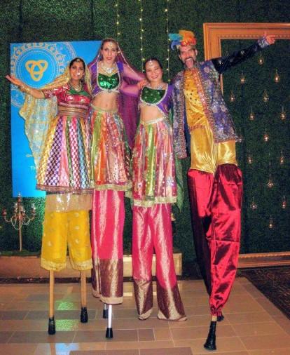 Diwali Hala on stilts East Indian South Asian bollywood stiltwalkers entertainment Toronto Missisauga brampton