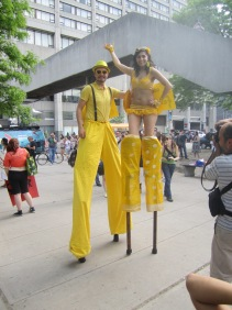 Hala on Stilts Slutwalk Toronto 2012