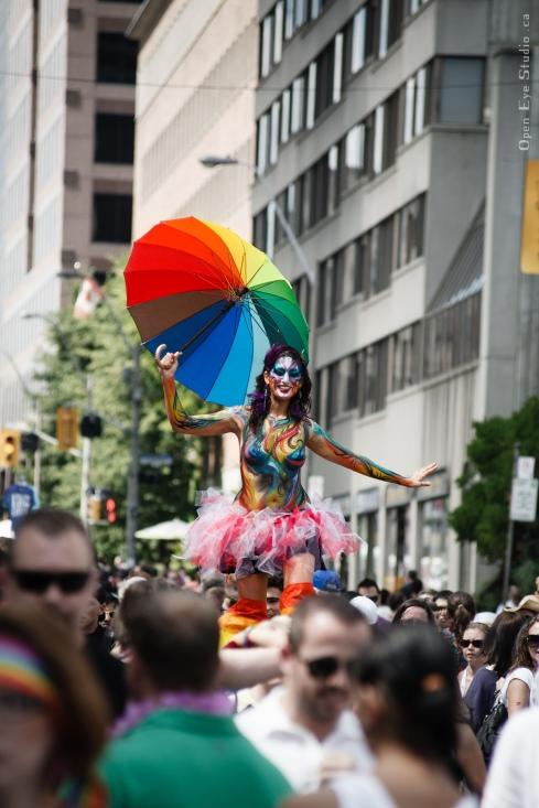 Hala on stilts Pride 2012 Toronto