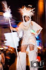 Hala on Stilts stilt walker Toronto winter solstice Doe