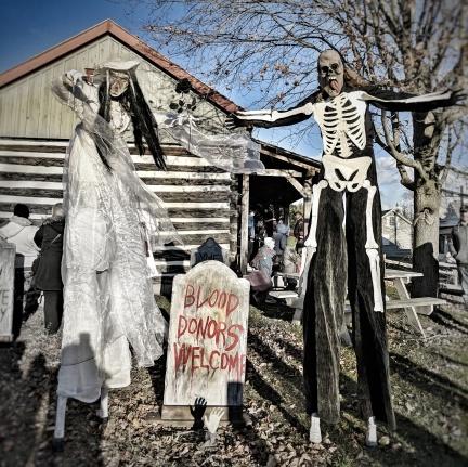 Spooky Stiltwalkers Halloween stilts costumes skeleton corpse bride Toronto