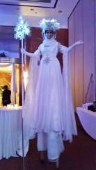 Hala on stilts snow queen toronto 3