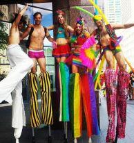 Stiltwalkers Pride Toronto Hala on Stilts 2016