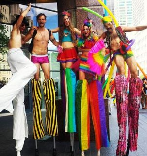 Stiltwalkers Pride Toronto Hala on Stilts 2016
