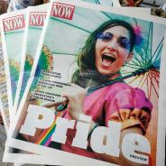 Hala on Stilts Now Magazine cover Pride insert 2017
