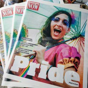 Hala on Stilts Now Magazine cover Pride insert 2017