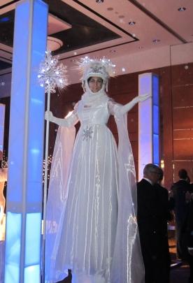 Hala on stilts snow queen toronto1
