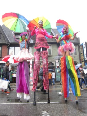 Toronto Pride on stilts 2015