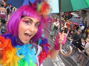 Hala on stilts at Toronto Pride 2015