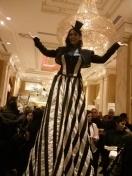 Hala on Stilts elegant ballroom gown toronto stilt walker