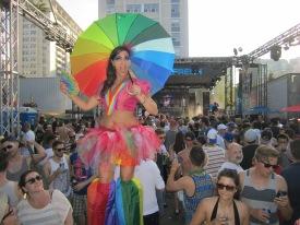 Hala on Stilts Toronto World Pride 2014