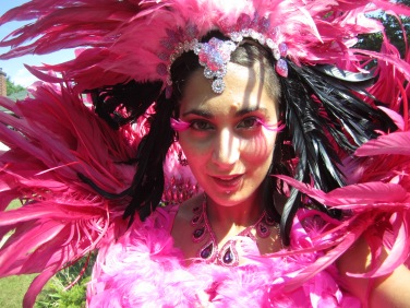 Hala on stilts carnival caribana