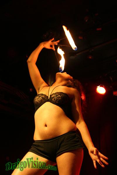 Hala eating fire 2006