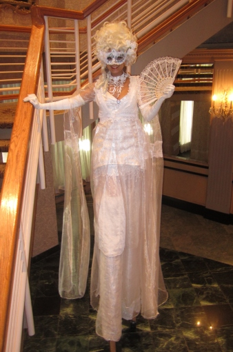 Stilter toronto masquerade Hala on Stilts