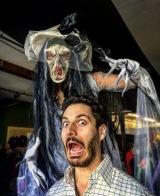 Scary corpse bride Hala on Stilts Halloween Toronto Entertainment