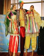 diwali-stilts stiltwalkers bollywood