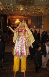 Hala on stilts Diwali Toronto Brampton stiltwalker entertainer Oct 2016