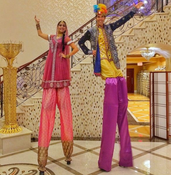 Hala on stilts bollywood Diwali stiltwalkers Toronto Mississauga Brampton south-Asian entertainment 2017
