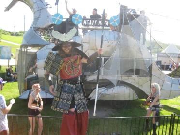 shogun on stilts heavy meta everafter fest 2017 stilt performer samurai