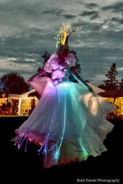 LED Crystal Queen on stilts Eclipse Festival Canada 2017