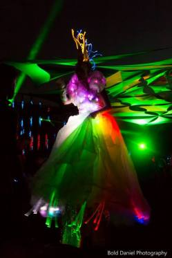 LED costume - Crystal Queen on stilts at Eclipse Festival Canada 2017