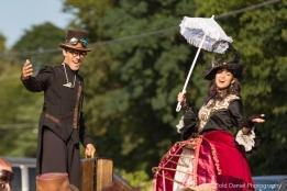 Steampunk stilters Toronto stilt-walkers