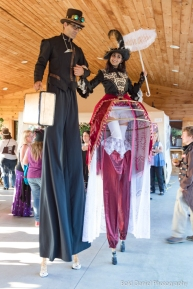 Steampunk stiltwalkers Hala on stilts Toronto entertainment cider festival 2017