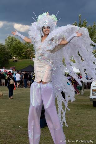 Stilt-walker Hala on Stilts Iridescent Dream Fairy Toronto Buskerfest 2017 1