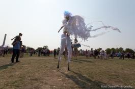 Stilt-walker Hala on Stilts Iridescent Dream Fairy Toronto Buskerfest 2017 flow