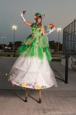 Hala on Stilts May flowers garden stiltwalker costume Toronto Entertainment 3