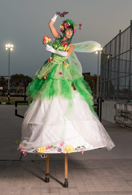 Hala on Stilts May flowers garden stiltwalker costume Toronto Entertainment 1