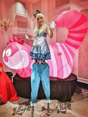 Alice in wonderland stilt walker Hala on Stilts Toronto Entertainment Pop events 2017