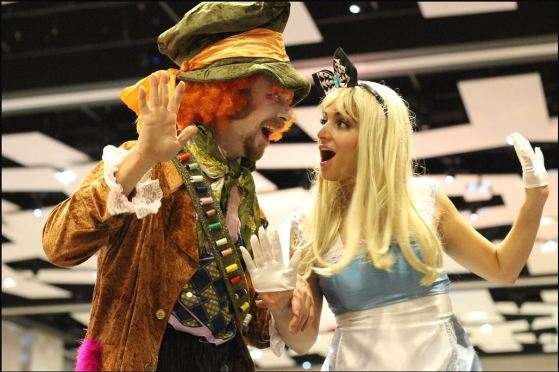 Alice in Wonderland stiltwalkers Photo by Matthew B William Hala on Stilts Entertainment Toronto