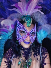 Mardis Gras costume stilts