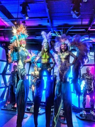 Mardis Gras carnival stiltwalkers Toronto Rebel