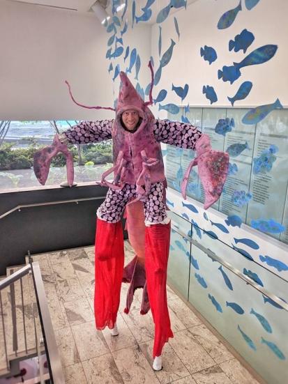 Lobster on stilts LobSTAR stiltwalker Toronto 2018