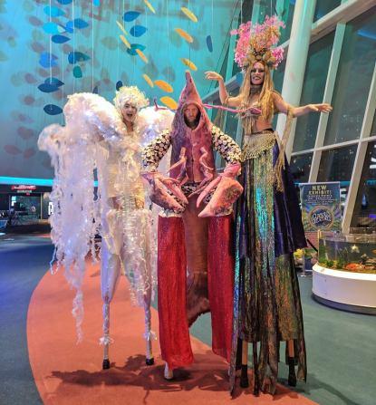Under the sea stiltwalkers Ripley's Toronto stilts Entertainment 2018
