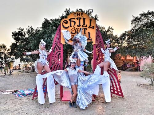 Boom Festival Mystika Circus Stilt-walkers