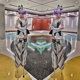 Space costume stiltwalker Toronto stilts