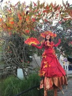 Stilter Autum red leaves Hala on Stilts Elora 2019