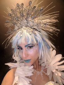 Hala on Stilts Ice Queen Costume